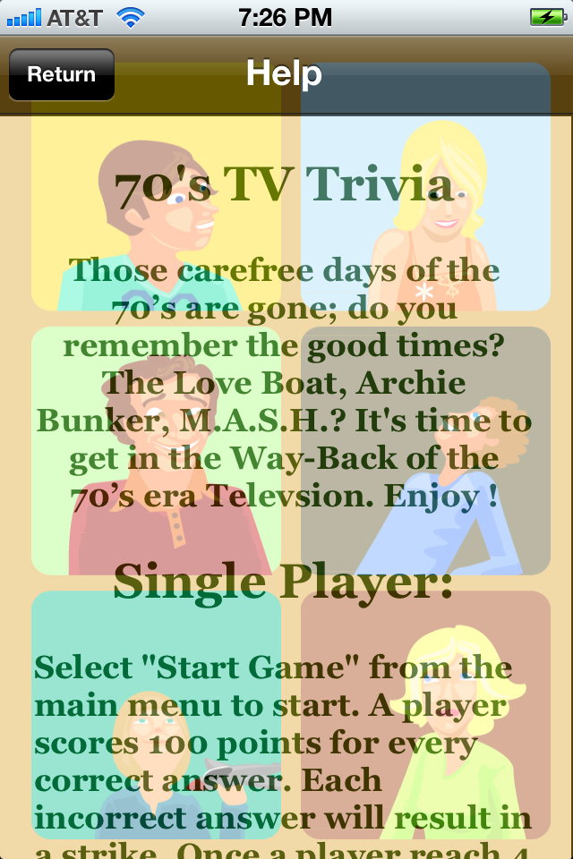 Screenshot 70's TV Trivia